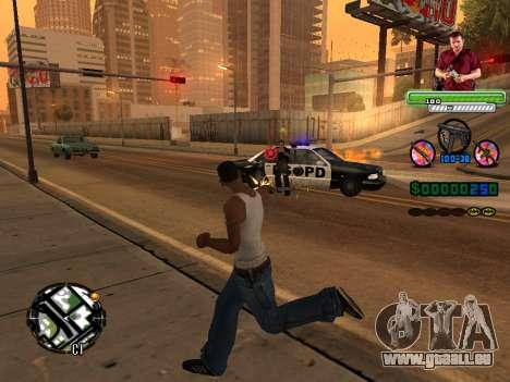 C-HUD Michael (GTA V) für GTA San Andreas her Screenshot