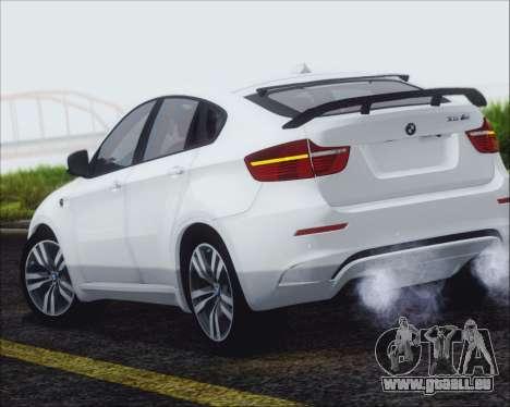 BMW X6 M 2013 Final pour GTA San Andreas laissé vue