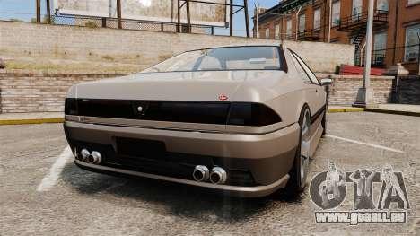 Vapid Fortune GTRS v2.0 pour GTA 4 Vue arrière de la gauche
