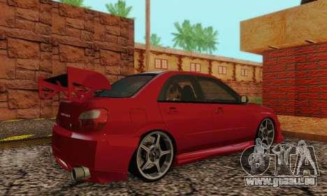 Subaru Impreza WRX Stock pour GTA San Andreas vue de droite