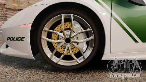Lamborghini Huracan Cop [ELS] für GTA 4 Rückansicht