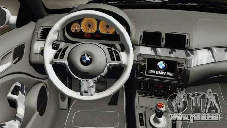 BMW M3 E46 Camo für GTA San Andreas rechten Ansicht