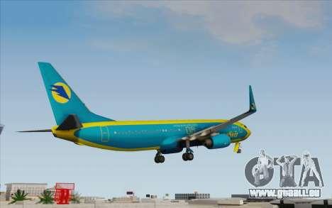 Boeing 737-800 AeroSvit Ukrainian Airlines für GTA San Andreas linke Ansicht