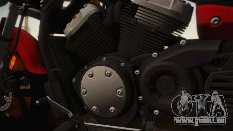 Yamaha Star Stryker 2012 pour GTA San Andreas sur la vue arrière gauche