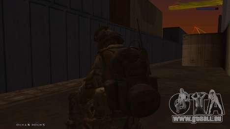 Ranger из Call Of Duty: Ghosts pour GTA San Andreas sixième écran