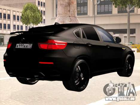 BMW X6 Hamann pour GTA San Andreas moteur