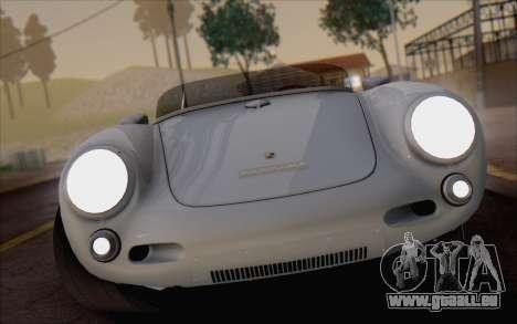 Porsche 550 Spyder 1955 für GTA San Andreas Rückansicht