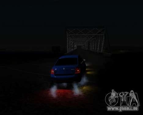Skoda Octavia A7 RS pour GTA San Andreas vue intérieure