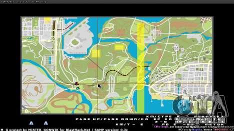 Carte en temps réel pour GTA San Andreas deuxième écran