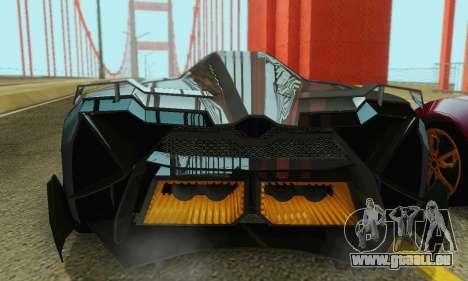 Lamborghini Egoista für GTA San Andreas Innen