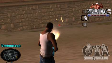 C-HUD 2PAC pour GTA San Andreas troisième écran