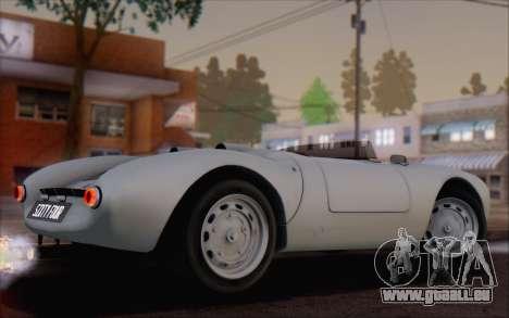 Porsche 550 Spyder 1955 für GTA San Andreas linke Ansicht