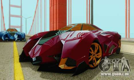 Lamborghini Egoista für GTA San Andreas Unteransicht