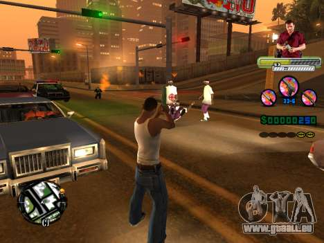 C-HUD Michael (GTA V) für GTA San Andreas sechsten Screenshot