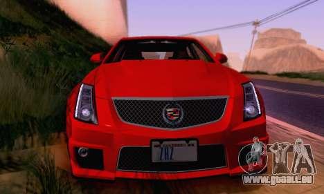 Cadillac CTS-V Sedan 2009-2014 pour GTA San Andreas moteur