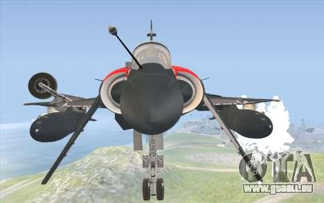 Dassault Mirage 2000-C pour GTA San Andreas vue de droite