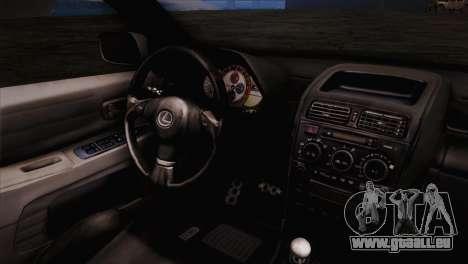 Toyota Altezza Sakura Miku Itasha für GTA San Andreas rechten Ansicht