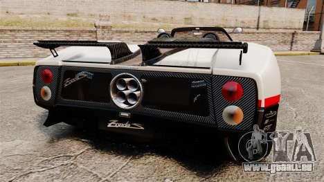 Pagani Zonda C12 S Roadster 2001 PJ4 pour GTA 4 Vue arrière de la gauche