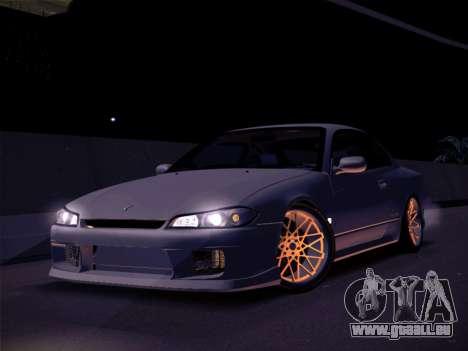 Nissan Silvia S15 Stanced pour GTA San Andreas sur la vue arrière gauche