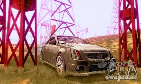 Cadillac CTS-V Sedan 2009-2014 pour GTA San Andreas vue intérieure