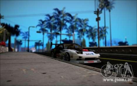Nissan 240SX Monster Energy für GTA San Andreas Rückansicht