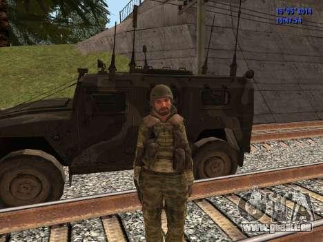 Militaire en tenue de camouflage pour GTA San Andreas quatrième écran