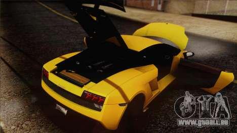 Lamborghini Gallardo LP570-4 Edizione Tecnica pour GTA San Andreas moteur