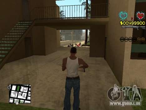 C-HUD Guns für GTA San Andreas achten Screenshot