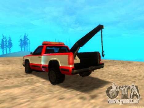 Nouvelle Remorque (Yosemite) pour GTA San Andreas sur la vue arrière gauche
