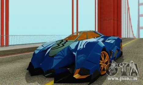 Lamborghini Egoista für GTA San Andreas Innenansicht