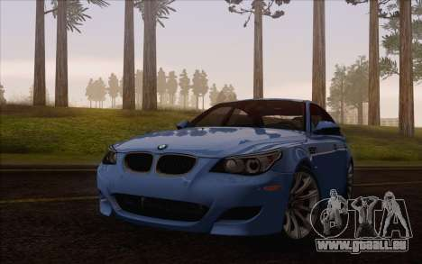 BMW M5 E60 2009 pour GTA San Andreas vue arrière