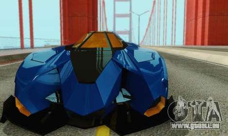 Lamborghini Egoista für GTA San Andreas Seitenansicht