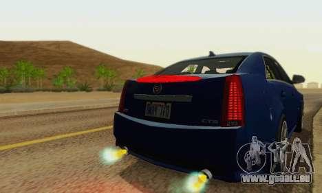 Cadillac CTS-V Sedan 2009-2014 für GTA San Andreas Unteransicht
