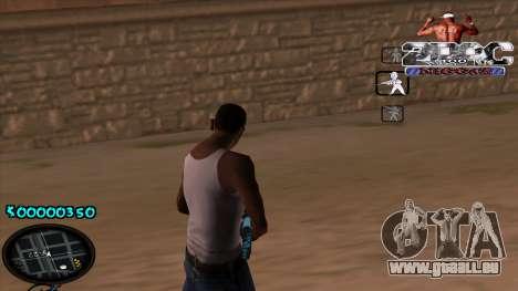 C-HUD 2PAC pour GTA San Andreas deuxième écran