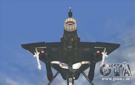 Dassault Mirage 2000-C pour GTA San Andreas sur la vue arrière gauche