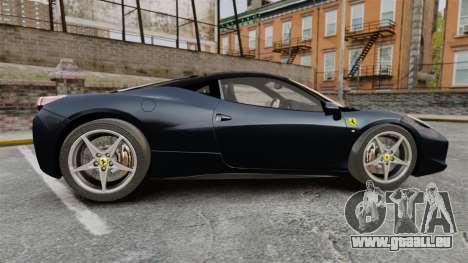 Ferrari 458 Italia für GTA 4 linke Ansicht
