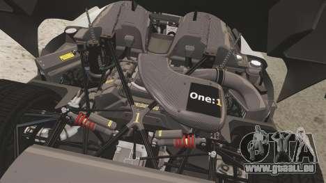 Koenigsegg One:1 [EPM] pour GTA 4 est une vue de l'intérieur