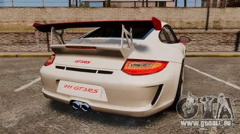 Porsche 997 Carrera GT3 RS pour GTA 4 Vue arrière de la gauche