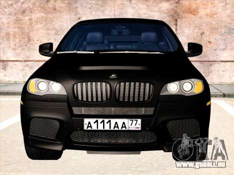 BMW X6 Hamann für GTA San Andreas obere Ansicht