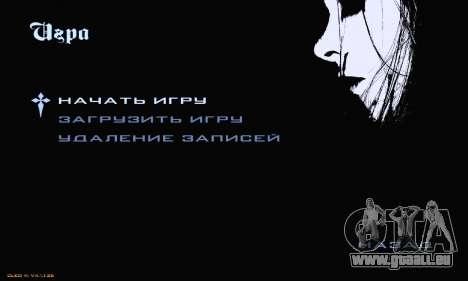 Black Metal Menu pour GTA San Andreas troisième écran