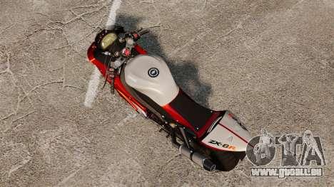 Kawasaki Ninja ZX-6R v2.0 pour GTA 4 Vue arrière de la gauche