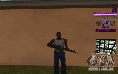 C-HUD The Ballas Gang für GTA San Andreas