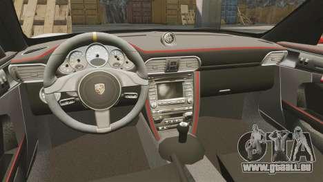 Porsche 997 Carrera GT3 RS pour GTA 4 Vue arrière