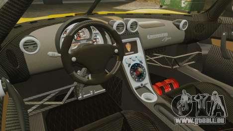 Koenigsegg Agera TE [EPM] pour GTA 4 est une vue de l'intérieur