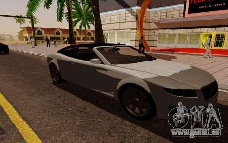 GTA 5 Lampadati Felon GT V1.0 für GTA San Andreas zurück linke Ansicht