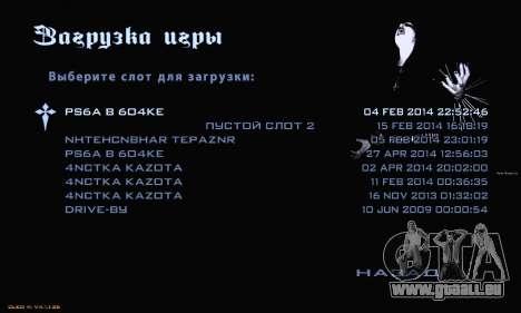 Black Metal Menu pour GTA San Andreas quatrième écran