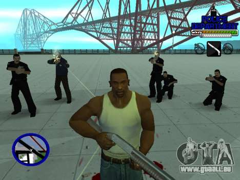 С-Hud Département De La Police De pour GTA San Andreas sixième écran