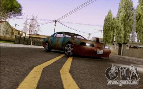 Elegy by Swizzy pour GTA San Andreas sur la vue arrière gauche