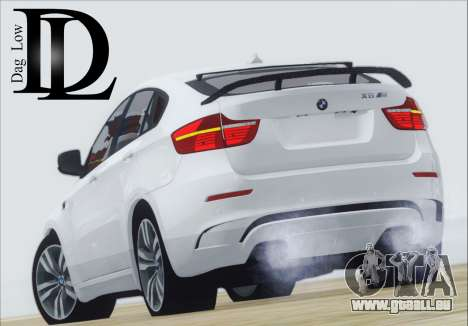 BMW X6 M 2013 Final für GTA San Andreas zurück linke Ansicht