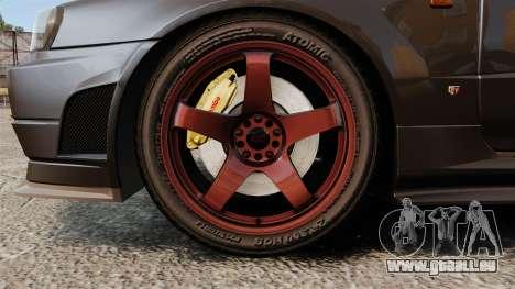 Nissan Skyline GT-R NISMO S-tune Amuse Carbon R pour GTA 4 Vue arrière